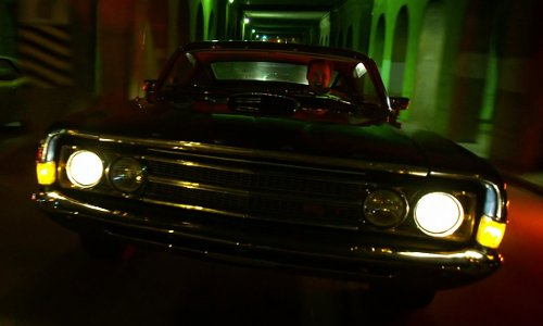Aaron Paul with Ford 1969 Torino Hardtop Car in Need for Speed
