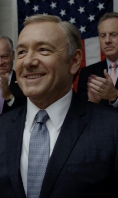 Kevin Spacey with Hugo Boss Made To Measure Suit in House of Cards