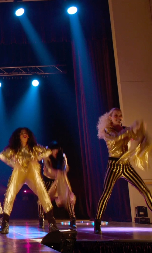 Kelley Jakle with Eastbay Tearaway Pants in Pitch Perfect 2