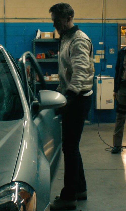 Ryan Gosling with Acne Studios Raw Denim 'Max Soft' Jeans in Drive