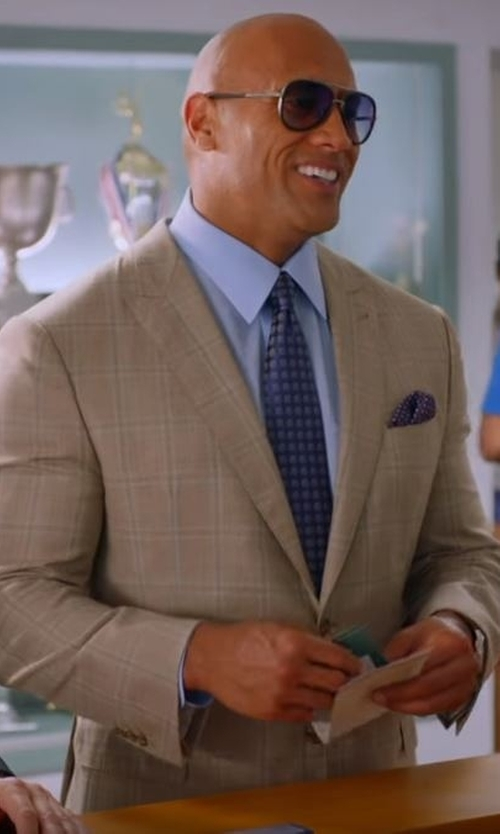 Dwayne Johnson with Kiton Silk Medallion Tie in Ballers