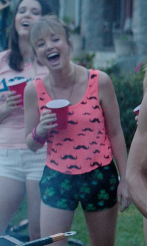 Kira Sternbach with Charlotte Russe Floral Printed High-waisted Shorts in Neighbors