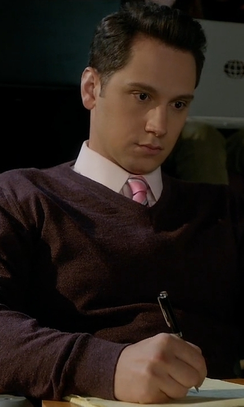 Matt McGorry with Etro V-Neck Sweater in How To Get Away With Murder