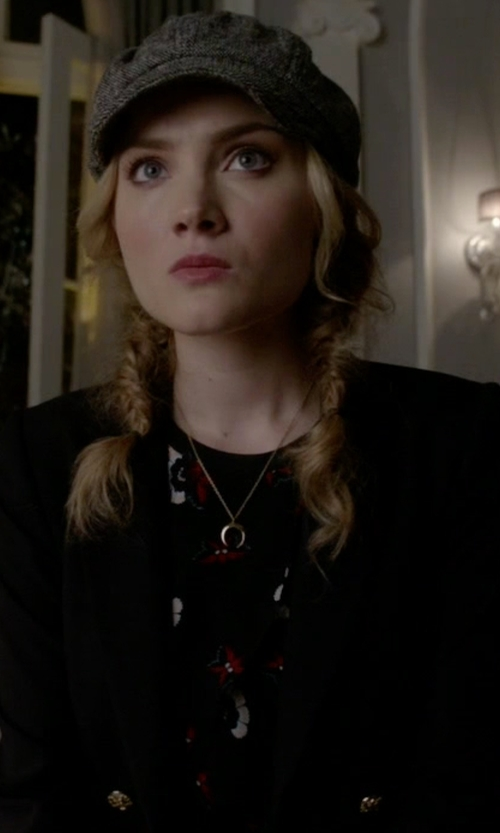 Skyler Samuels with A.L.C. Silk Anise Top in Scream Queens