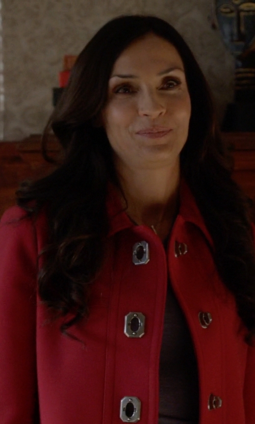 Famke Janssen with Piazza Sempione Single-Breasted Coat in How To Get Away With Murder