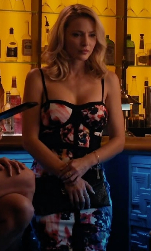 Tabrett Bethell with Material Girl Juniors' Printed Illusion Bodycon Dress in Mistresses