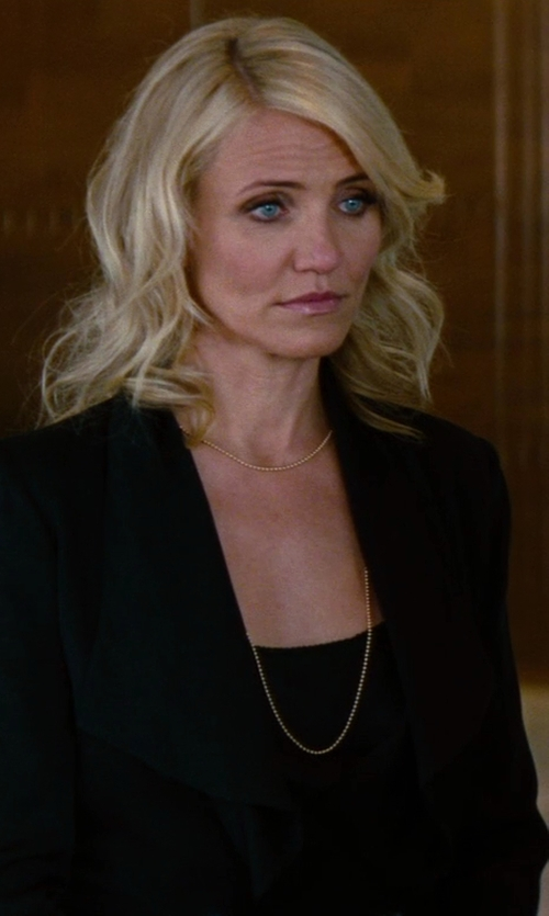 Cameron Diaz with Jennifer Fisher Large Ball Chain Necklace in The Other Woman