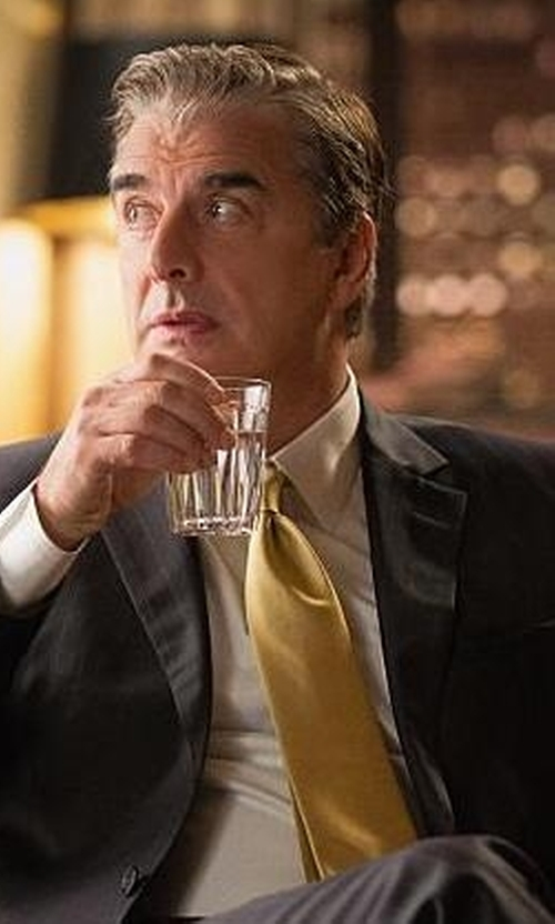 Chris Noth with Jos. A. Bank Executive Solid Long Tie in The Good Wife