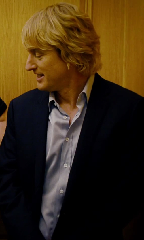 Owen Wilson with Ike Behar Men's Ice Gray Cotton Dress Shirt in She's Funny That Way