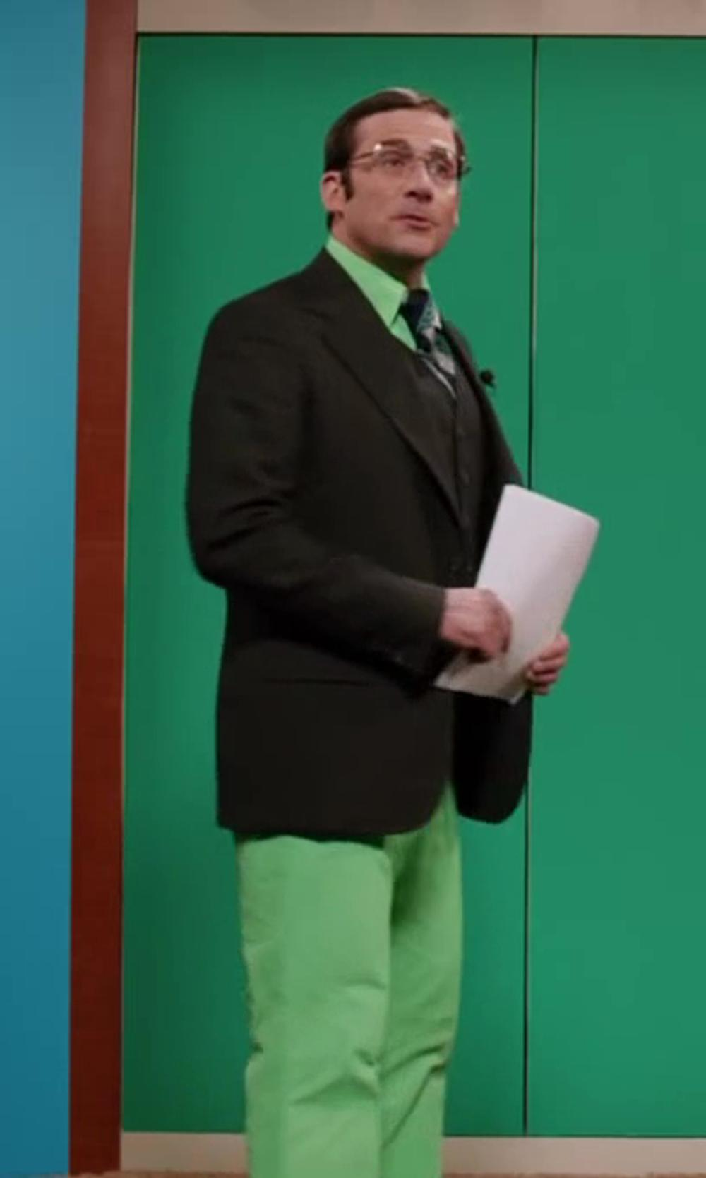 Steve Carell with J Lindeberg Troon Micro Twill Golf Pants in Anchorman 2: The Legend Continues
