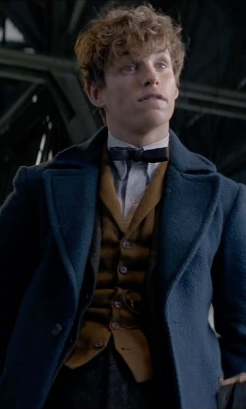 Eddie Redmayne with Hot Topic Newt Scamander Overcoat in Fantastic Beasts and Where to Find Them