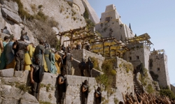 No Actor with Fortress of Klis (Depicted as Meereen) Klis, Croatia in Game of Thrones