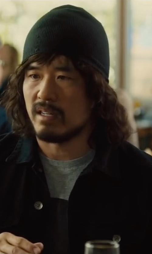 Randall Park with Rolla's Denim Jacket in Snatched