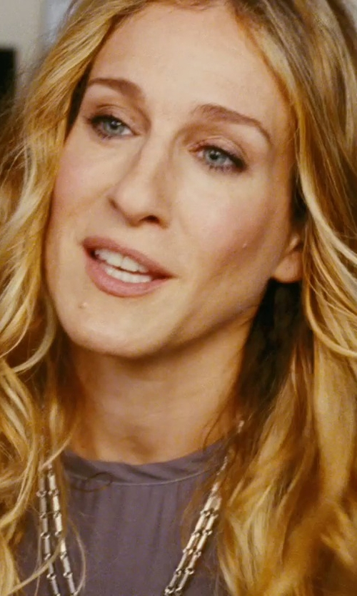 Sarah Jessica Parker with Carol Tannenbaum Round Necklace in Sex and the City