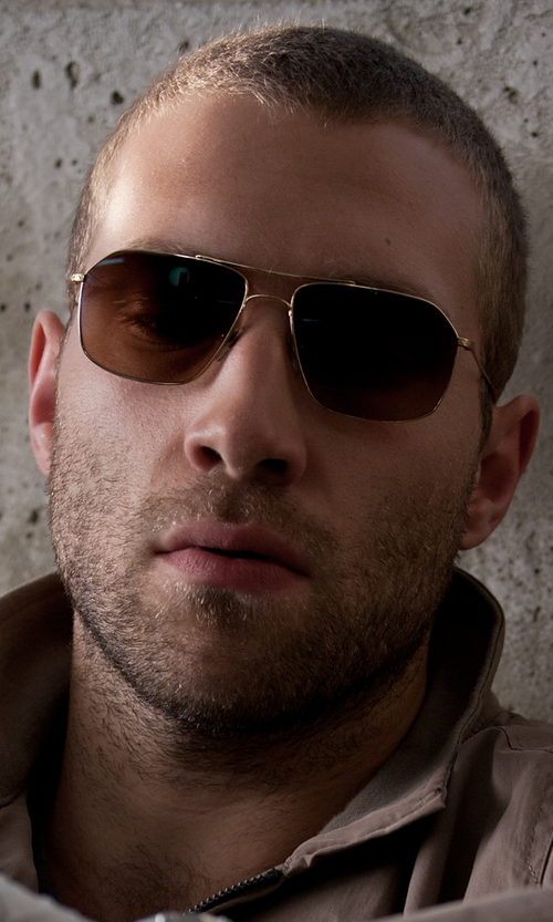 Jai Courtney with John Varvatos V746 Aviator Sunglasses in Jack Reacher