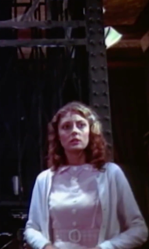 Susan Sarandon with Casey Gray Corduroy Shirt Dress in The Rocky Horror Picture Show