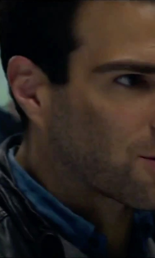 Zachary Quinto with Rogue 'Mustang' Leather Racing Jacket in Hitman: Agent 47