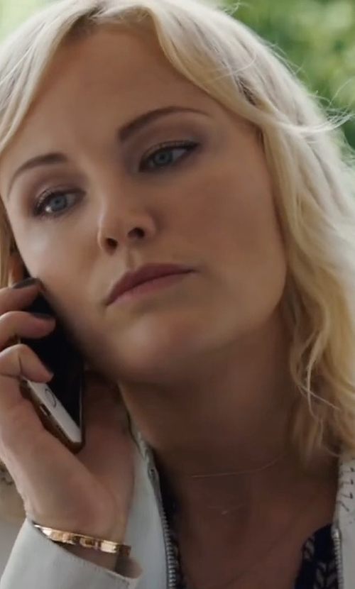 Malin Akerman with Neiman Marcus Classic Leather Jacket in Billions