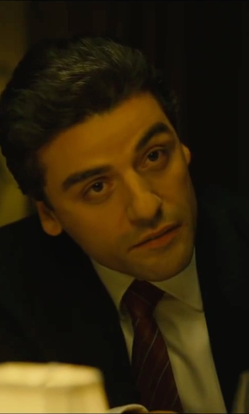 Oscar Isaac with Brioni Textured Grid-Check Shirt in A Most Violent Year