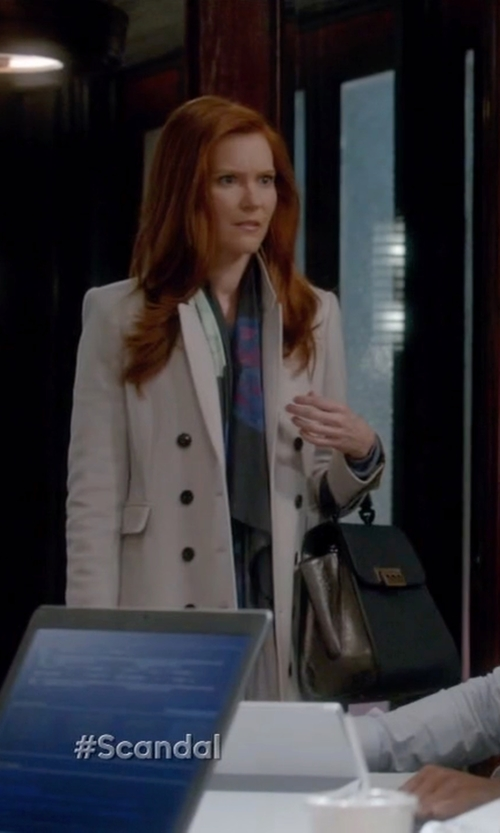Darby Stanchfield with Burberry Cashmere Northcombe Coat in Scandal