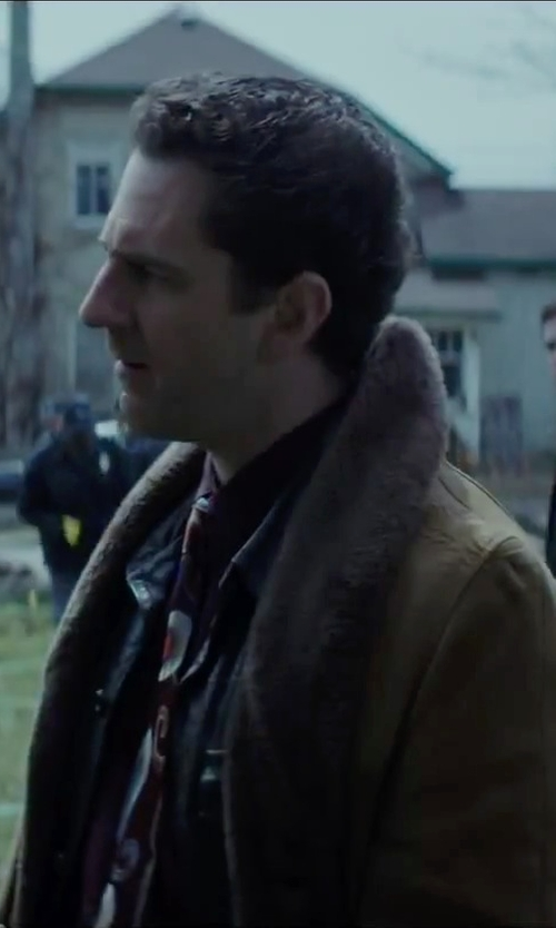 Aaron Abrams with Erechtheus Faux-Leather Fur-Lined Collar Jacket in Regression