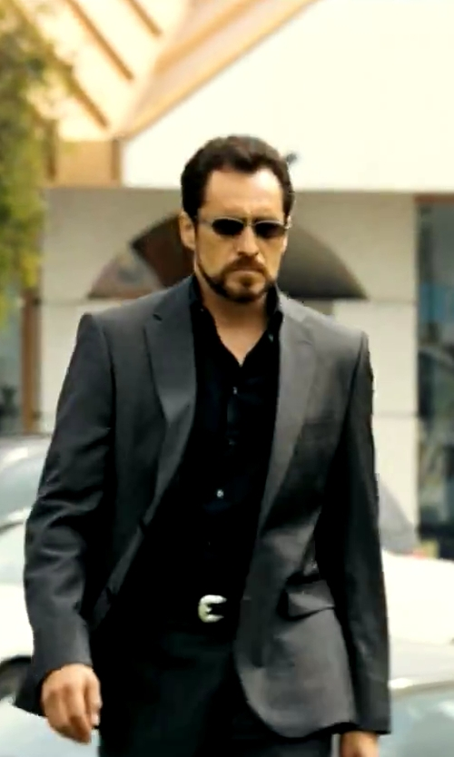 Demian Bichir with Salvatore Ferragamo Aviator Sunglasses in Savages