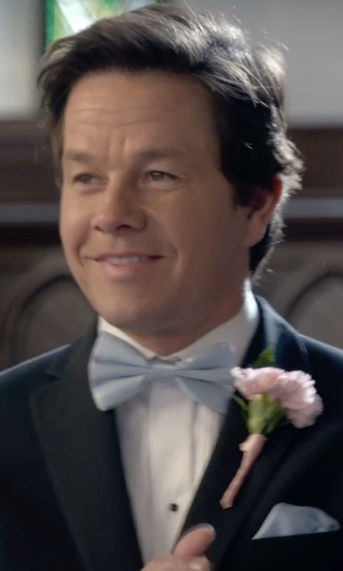Mark Wahlberg with Eton White Plissé Evening Shirt in Ted 2