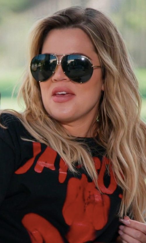Khloe Kardashian with Porsche Design By Carrera Aviator Sunglasses in Keeping Up With The Kardashians