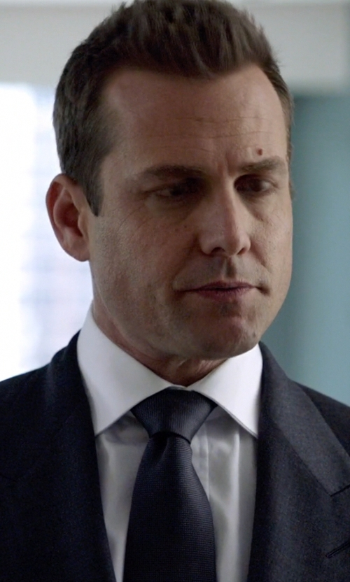 Gabriel Macht with Lanvin Grosgrain Solid Tie in Suits