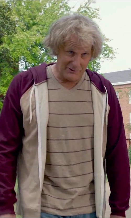 Jeff Daniels with Modern Culture Men's Holt Striped V-Neck in Dumb and Dumber To