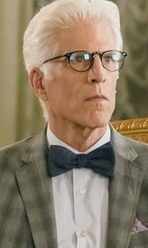 Ted Danson with Saks Fifth Avenue Collection Metallic Thread Bow Tie in The Good Place