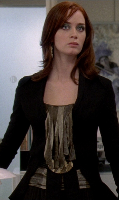 Emily Blunt with Boss Hugo Boss Jannami Blazer in The Devil Wears Prada