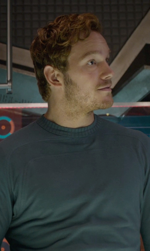 Chris Pratt with Diesel Men's K-Manik Knit Shirt in Guardians of the Galaxy