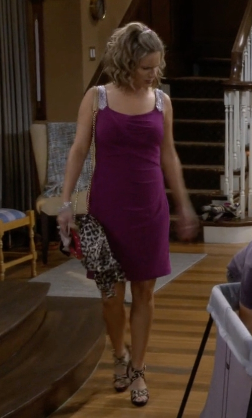Andrea Barber with Michael Michael Kors Evie Calf-Hair Sandals in Fuller House