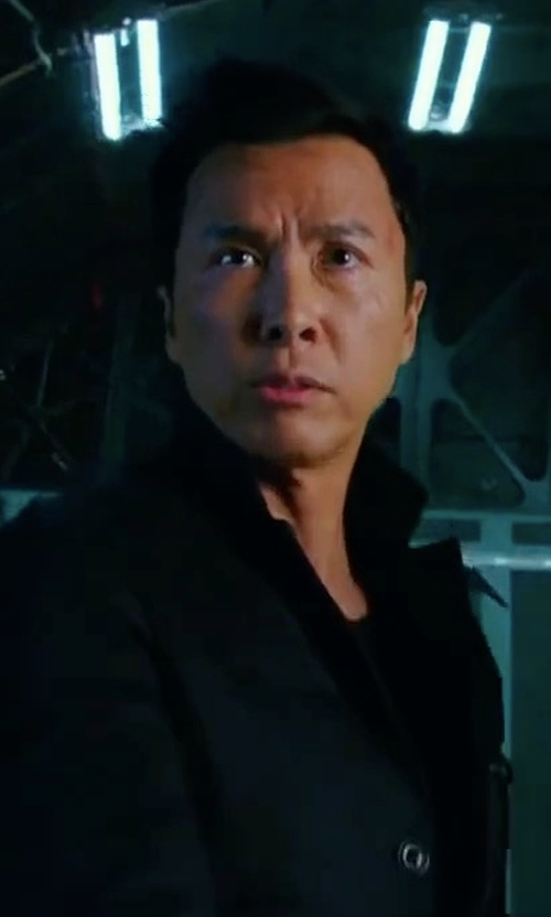 Donnie Yen with James Perse Slub Jersey Two-Button Blazer in xXx: Return of Xander Cage
