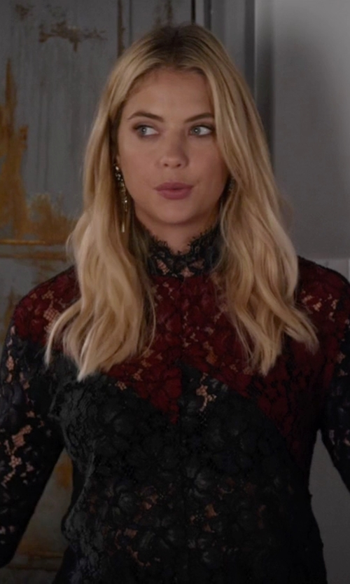 Ashley Benson with Sandro Elda Top in Pretty Little Liars