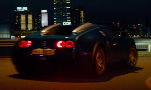 Unknown Actor with Bugatti Veyron Bleu Centenaire in Man of Tai Chi