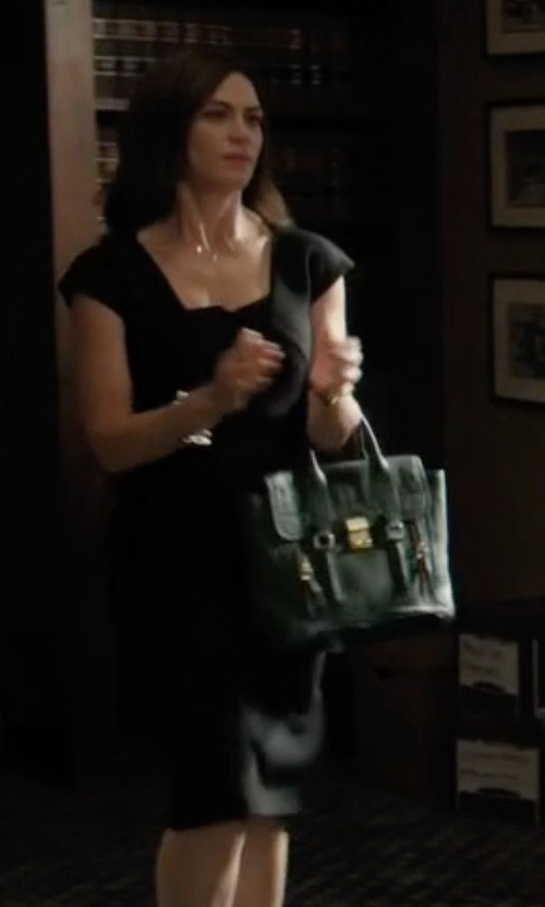 Maggie Siff with 3.1 Phillip Lim Large Pashli Tote Bag in Billions