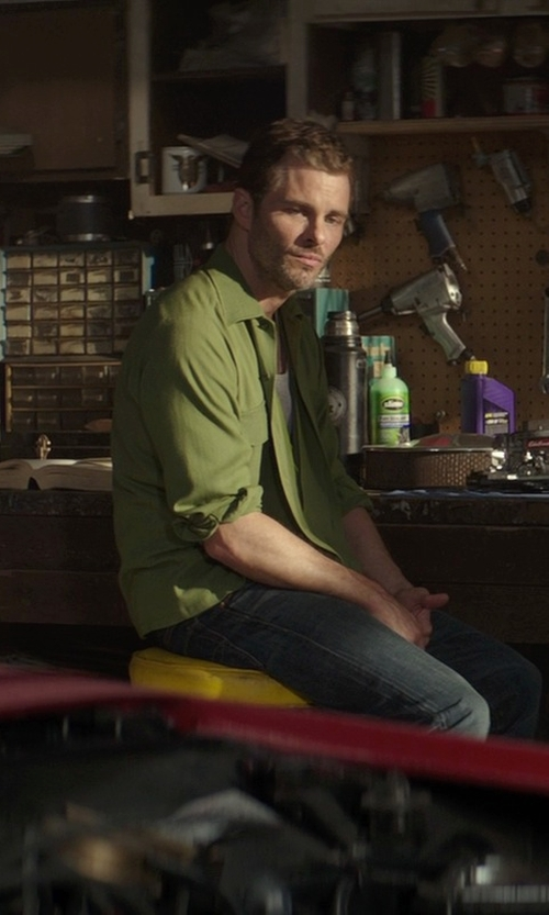 James Marsden with Signature Fashions Button Down Shirt in The Best of Me