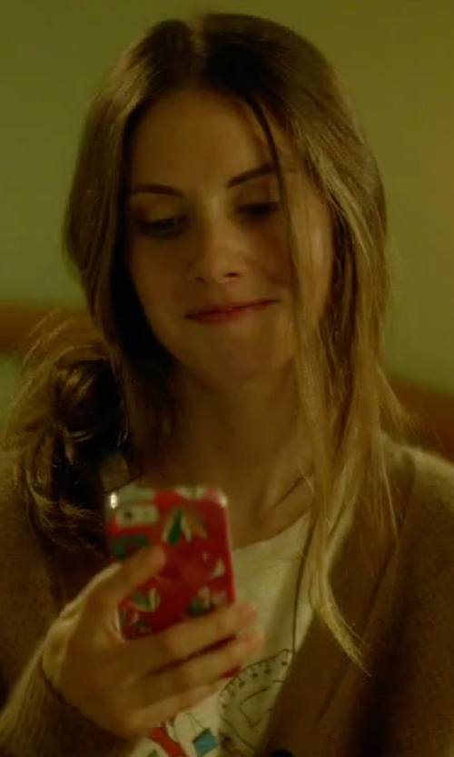 Alison Brie with Apple iPhone 6 Smartphone in Sleeping with Other People