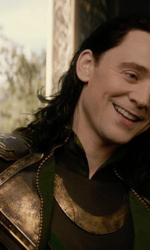 Tom Hiddleston with Wendy Partridge (Costume Designer) Custom Made Loki Costume in Thor: The Dark World