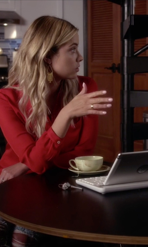 Ashley Benson with Cartier  Love Ring in Pretty Little Liars