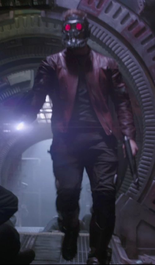 Chris Pratt with J Brand Jeans Trooper Cargo Twill Pants, Black in Guardians of the Galaxy