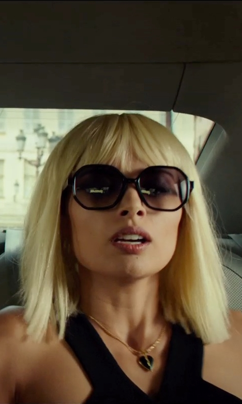 "Tatiana Pajkovic with Chloé Hexagonal Frame ""Marcie"" Sunglasses in The Transporter: Refueled"