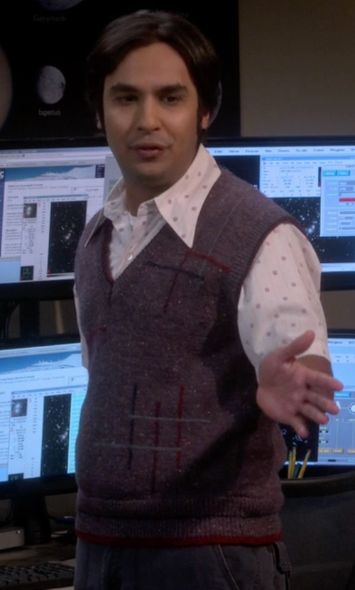 Kunal Nayyar with Daniel Cremieux Signature Supima Vest in The Big Bang Theory