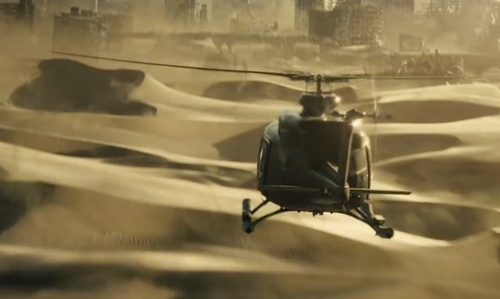 Unknown Actor with Bell 212 Helicopter in Maze Runner: The Scorch Trials