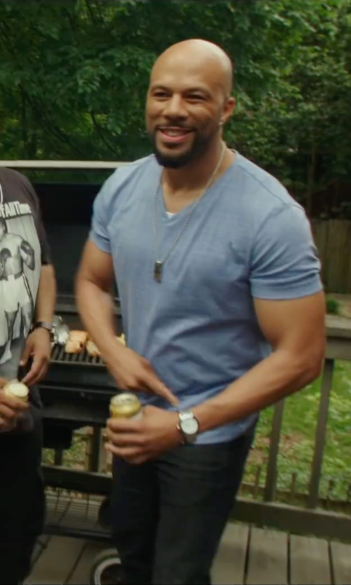 Common with Michael Kors V-Neck Cotton T-Shirt in Barbershop: The Next Cut
