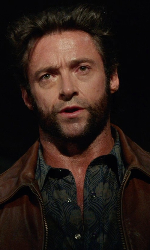 Hugh Jackman with Dolce & Gabbana Classic Leather Jacket in X-Men: Days of Future Past