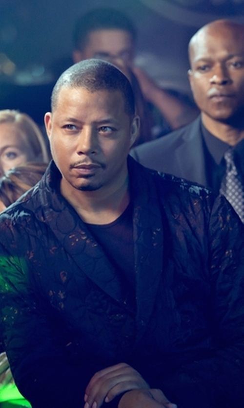 Terrence Howard  with Versace Collection Regular-Fit Sante Fe Sportcoat in Empire