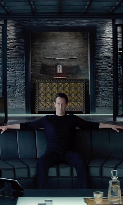 Keanu Reeves with Emporio Armani Slim Fit Trousers in Man of Tai Chi